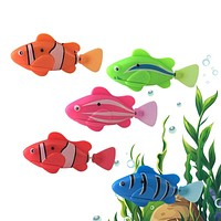 Baby Swimming Accessories Robofish Baby Bath Toy Piscine Water Fish Toys Educational Pool Aquarium Tank Decor Funny Gifts Animal