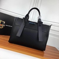 prada women leather shoulder bags satchel tote bag handbag shopping leather tote crossbody satchel shouder bag 18