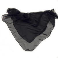 Plain Black  scarf, Birthday Gift for coworker that like Black, Solid colors scarves, Goth Head Scarf, Chiffon Fabric Head Scarves for Men