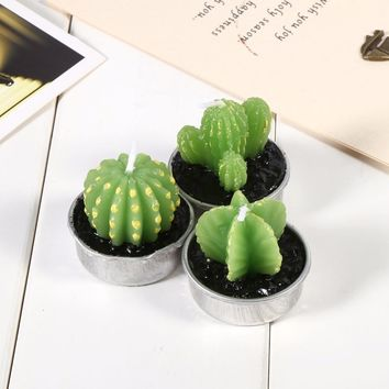 Cactus Tea Lights (6 Pieces)