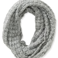 Solid Butterfly Knit Infinity Scarf
