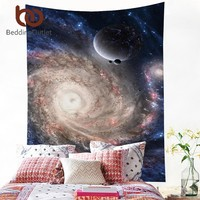 BeddingOutlet Galaxy Tapestry 3D Printed Outer Space Dark Wall Carpet Home Hanging Wall Tapestries Soft Sheet 130x150cm 150x200