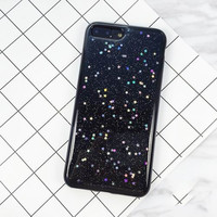 Soft Black Glitter Phone Case For iPhone 7 7Plus 6 6s Plus