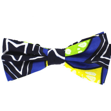 Tok Tok Designs Pre-Tied Bow Tie for Men & Teenagers (B423, African Wax Fabric)