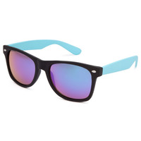 Blue Crown Smooth Operator Sunglasses Black/Turquoise One Size For Men 23655393501