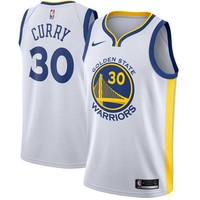 Stephen Curry Golden State Warriors # 30 Nike White Swingman Association Edition Jersey - Best Deal Online