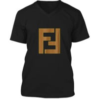 Fendi_Vintage__Inspired_ Mens Printed V-Neck T