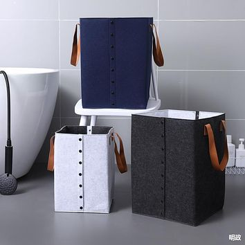 Felt Dirty Clothes Basket Dirty Clothes Storage Basket Clothing Household Laundry Basket Clothes Basket Toy Bucket Basket Storage Bag Fabric