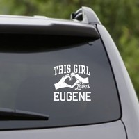 DABBLEDOWN DECALS This Girl Loves Eugene Decal Sticker Car Window Truck Laptop Tablet