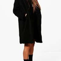 Petite Oversized Hooded Teddy Coat | Boohoo
