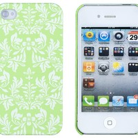 Neon Green Flower Embossed Hard Case for Apple iPhone