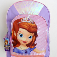 """Disney Little Princess - Sofia the First Fairy Large Full Size 16"""" Backpack"""