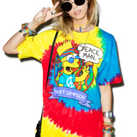 Liquid Blue Peace Man Tee Multi