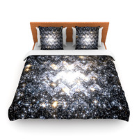 "Suzanne Carter ""Messier Chevron"" King Fleece Duvet Cover - Outlet Item"