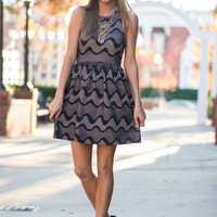 Caught In The Waves Dress, Black