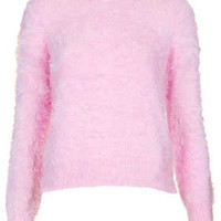 Petite Fluffy Crew Neck Jumper - New In This Week  - New In