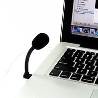 COSMOS ® Mini 3.5mm Flexible Microphone Mic for PC Macbook pro/Laptop/Skype/VOIP/MSN/Yahoo + Cosmos cable tie