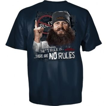 Duck Dynasty The #1 Rule Is There Are No Rules Adult Navy Blue T-shirt