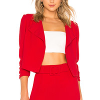 Lovers + Friends Gigi Cropped Jacket in Red
