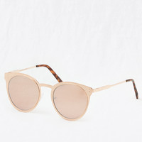 Aerie Love Goes Round Sunnies, Rose Gold