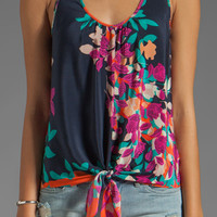 Akiko Tie Front Top in Floral Print from REVOLVEclothing.com