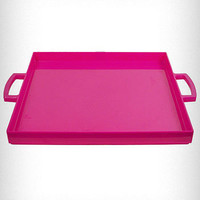 Hot Pink Lucite Mod Serving Tray | PLASTICLAND