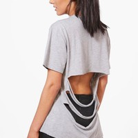 Megan Oversized Slash Back T-Shirt | Boohoo