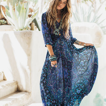Spell || Kiss the sky gown - bluejay
