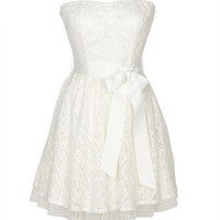 Allover Lace Tulle Dress