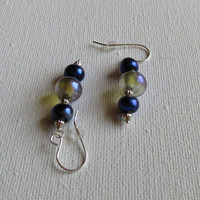 Jewelry, Dichroic Glass Earrings with Sterling Silver, Statteam