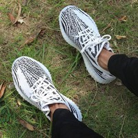 ADIDAS YEEZY BOOST 350 Men's and Women's Tide Brand Fashion Wild Casual Shoes F