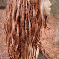 Honey Brown and Blonde Synthetic Lace Front Dreadlock Wig * Synthetic Dreads * Double Ended Dreads * Single Ended Dreads * Cosplay *