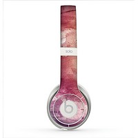 The Pink-Yellow-Blue Grunge Painted Surface Skin for the Beats by Dre Solo 2 Headphones