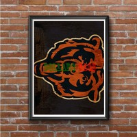 Chicago Bears (big face) Photo Poster