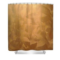 Brushed Copper Metallic Shower Curtain for Sale by Corbin Henry