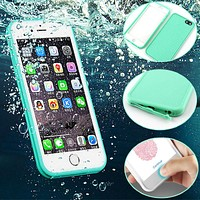 Colorful Candy Color Diving Waterproof Case For Capinha iphone SE 5s 6 6s 7 Plus Soft Silicone Rubber Shockproof Dustproof Cover