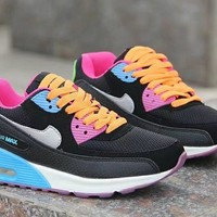 """Nike Air Max 90"" Women Sport Casual Multicolor Air Cushion Sneakers Fashion Running Shoes"