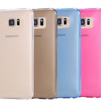 S6 Cases 0.3mm Super Slim Soft TPU Gel Case For Samsung Galaxy S6 G9200 Crystal Clear Rubber Back Cover Shell Bag For Galaxy S6
