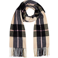 River Island Womens Pink plaid blanket scarf
