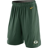 Mens Green Bay Packers Nike Green Practice Wear Performance Shorts