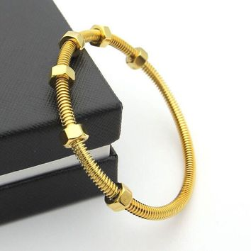 BeadyBoutique Love Bracelet Screws and Bolts Yellow Gold