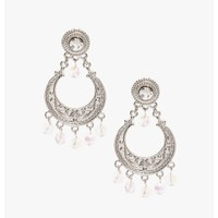 silver Forever Lovely Earrings   $3.50   Cheap Trendy Earrings Chic Discount Fashion for Women   Mo