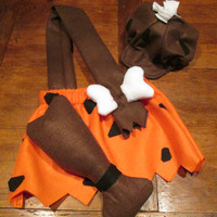 Childrens Halloween Costume, Flintstones Toddler / Baby Bam Bam costume, Convo Me Will Make Baby and Toddler Sizes !