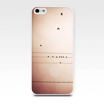 birds iphone case 5s iphone 4s case birds on a wire birds flying case photography fine art iphone case iphone 4 iphone 5 case vintage bokeh