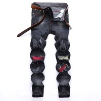 Winter Ripped Holes Fashion Stretch Jeans [1567946539101]