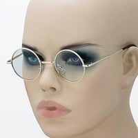 New John Lennon Round Retro Metal Frame Clear Lens Eye Glasses Hippies 70s 80s