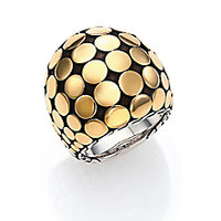 John Hardy - Dot 18K Yellow Gold & Sterling Silver Dome Ring - Saks Fifth Avenue Mobile