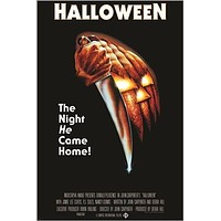 HALLOWEEN the night he came home VINTAGE MOVIE POSTER horror 24X36 KNIVES