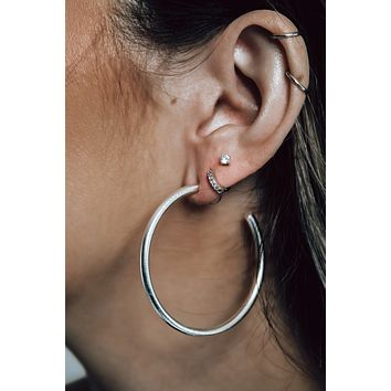 Jump Through Hoops Earrings: Silver