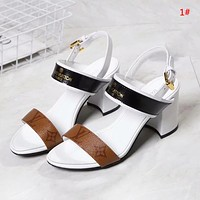 Louis Vuitton LV Summer New Popular Women Princess High Heels High-Heeled Shoes Sandals 1#